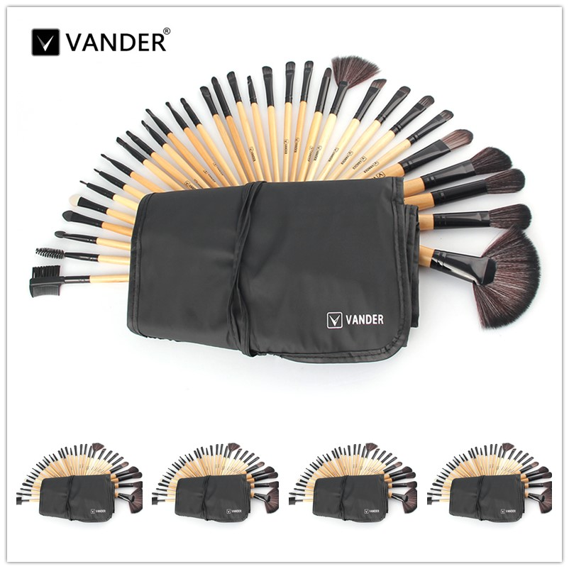 VANDER 5*32pcs Makeup Brush Set Professional Cosmetic Kits Brushes Foundation Powder Blush Eyeliner pincel maquiagem w/ Bag 24 pcs professional makeup brushes beauty woman s kabuki cosmetic makeup brush set tools foundation brush pincel de maquiagem