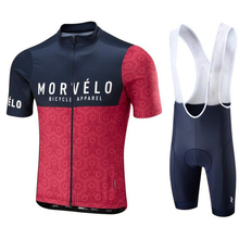 9D pad 2018 Morvelo Breathable Summer Cycling Jersey Bib Shorts Set Bicycle Sport Wear Clothing Clothes Shirt Quick Dry