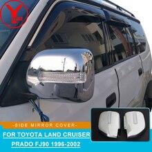 цена на chrome rearview mirror cover with light For Toyota Land cruiser Prado fj90 3400 Spoiler Car Styling accessories for fj90 YCSUNZ
