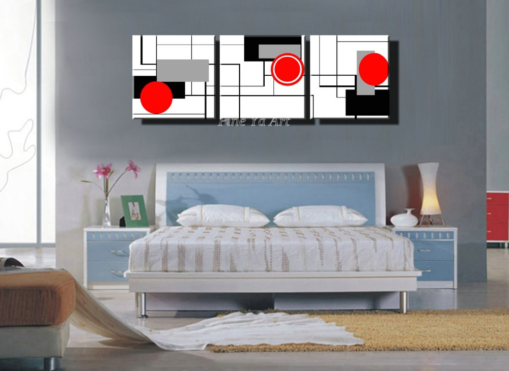 3 Piece HD Print Cheap Red Black White Modern Artwork Abstract Canvas Art Painting For Living Room Bedroom Wall Decoration In Calligraphy From