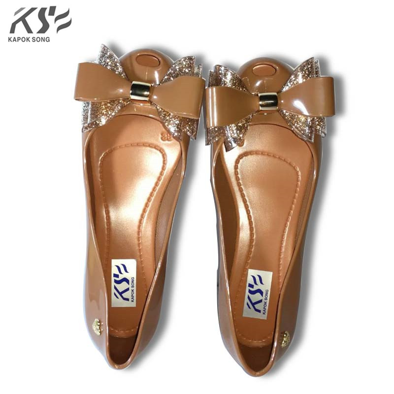 2017 summer jelly shoes candy sandals luxury model girls bowknot shoes casual lady fashional high heel candy women shoes female