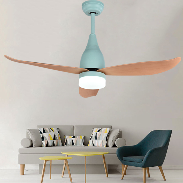 Opkmb 44inch Decoration Led Fan Light For Bedroom Modern Ceiling Lamp Living Room Art