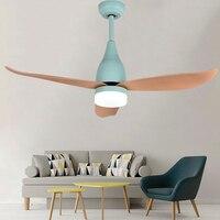 OPKMB 44inch Decoration LED Fan Light For Bedroom Modern Ceiling Fan Lamp For Living Room Art Deco Fan Lights