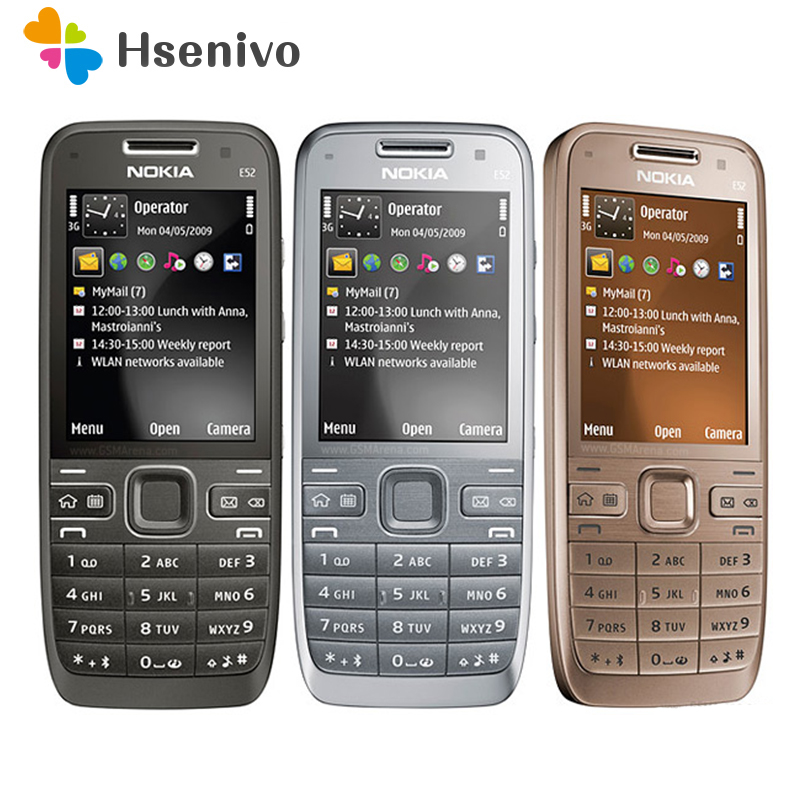 E52 Original Nokia E52 WIFI GPS JAVA 3G Unlocked Mobile Phone handset russian keyboard phone refurbished