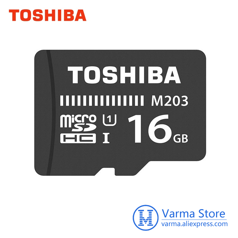 Toshiba tf card M203 micro SD memory card UHS I 16GB U1 Class10 FullHD flash memory card microSDHC microSD-in Micro SD Cards from Computer & Office