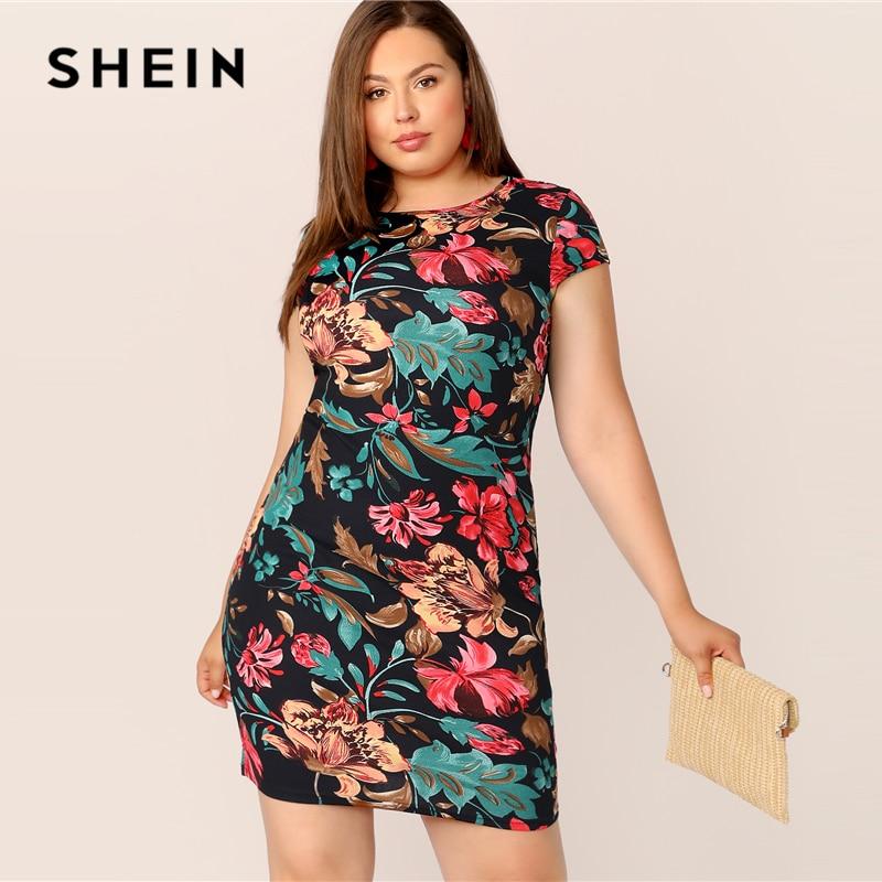 SHEIN Multicolor Floral Print Dress