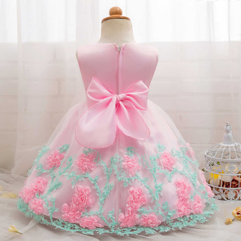 e389fe795f9ab White Christening Baby Girl Dress Wedding Long Sleeve 1 year birthday  Newborn Princess Dresses Infant Tutu Dress Girl clothes-30