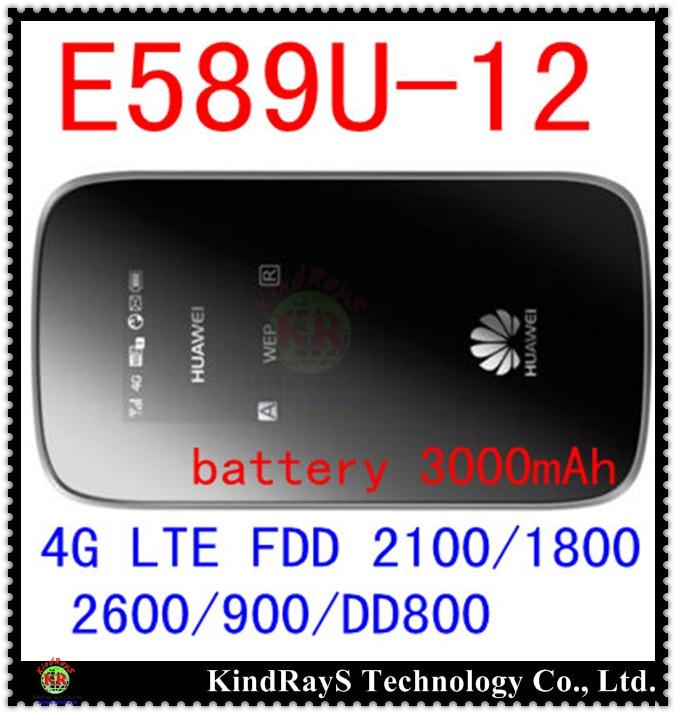 Ontgrendeld Huawei E589 E589u-12 LTE 4g wifi router Hotspot 4g lte mifi dongle FDD 2100/1800/2600/900 / DD800 pk e8278 e8372 e5577