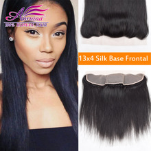 Ear to Ear Silk Base Closures Lace Frontal Straight Brazilian Virgin Hair Frontal 13 x 4 Silk Base Frontals with Baby Hair