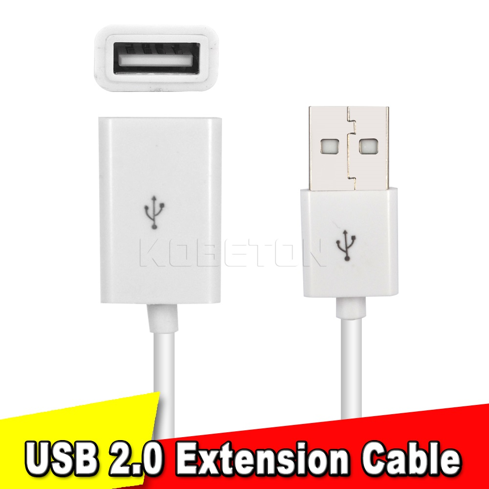 USB 2.0 A Male to Female Extension Data Cable 0.5M USB Extension Cable Extender Charge Extra Cable For PC Laptop Tablet