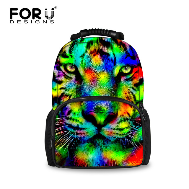 4acfd0a1a3f Cool 3D Animal Tiger Head Backpack Large Men s Travel Backpack Unique Teenage  Boys Horse School Backpacks