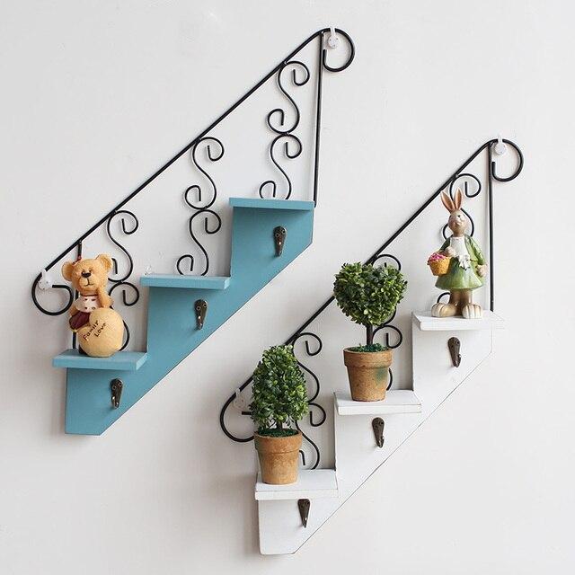 Kreative Handarbeit Treppen Wandregal Halter Partition Wand