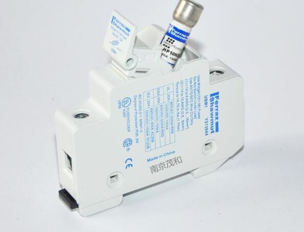 Free shipping 5pc Rail type Mersen fuse holder 1000VDC 10A 15A 20A 30A 10*38 Photovoltaic fuse base 10KA [sa]new original alarm fuse base fuse holder ds 401a