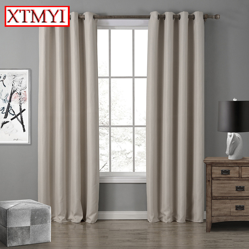 Modern Blackout Curtains For Living Room Window Curtains For Bedroom Finished Fabrics Drapes blinds Customized