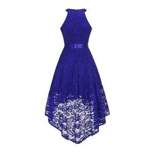 Image 3 - OML 526 # bicchierino della Parte Anteriore posteriore lungo blu scuro halter Bow Damigella Donore Abiti da sposa vestito da partito di promenade del commercio allingrosso di abbigliamento di moda