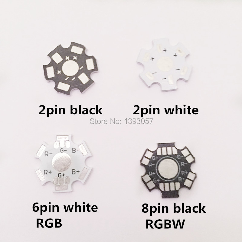 25pcs 1W 3W 5W LED Aluminum Heatsink Base Plate 20mm Heat Sink Star RGB RGBW PCB Board DIY for 1 3 5 W Watt High Power LED Chip 5 x 1w led driver w gu10 connector base white