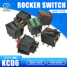 KCD6 Rocker Switch Boat Power 15A 250V 20A 125V ON-OFF 2 Position 4 Pins / 6