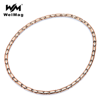WelMag Magnetic Necklace For Women Germanium Bio Energy Healing Therapy Jewelry Power Necklaces Healthy Collar Relieve