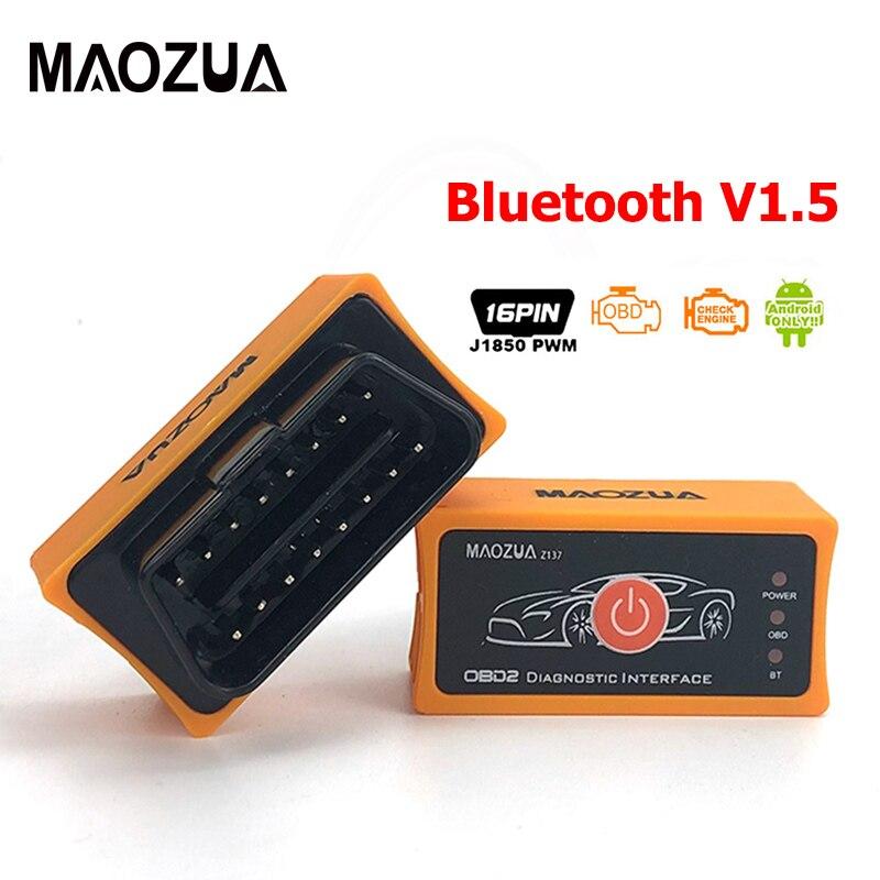 Super Mini Elm327 V1.5 Z137 Bluetooth Elm327 OBD2 Car Diagnostic Tool OBD2 Scanner Adapter Code Reader Auto Diagnostic Tool