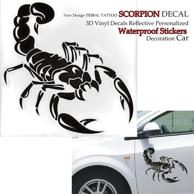 Car Styling Scorpion Car Stickers And Decals Tribal Tattoo 3d Vinyl