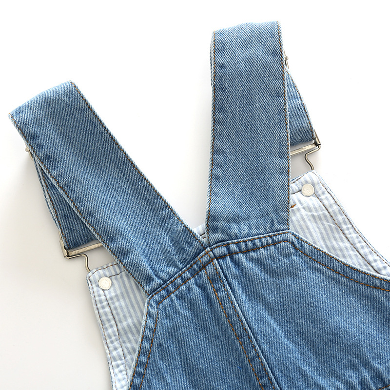 2020 summer children pants Overalls Korean Distrressed Worn Holes Straps Jeans Girl boy baby shorts pants kids clothes clothing 3