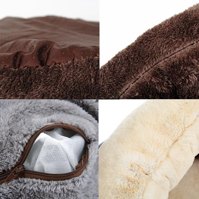 Hoopet Pet Dog Cat Bed Warm Soft Sleeping Bag Kitten House Sack Bed Kennel Cave Pet Home Blanket Mat Cushion