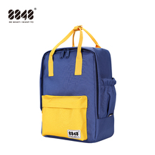 Women Canvas Backpacks Candy Color Waterproof School Bags for Teenagers Girls Laptop Backpack Patchwork New 003-008-024
