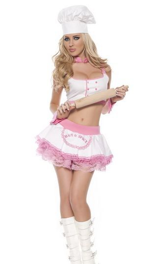 Sexy Chef Dress Costumes Free Shipping Hot Popular Unique -1271