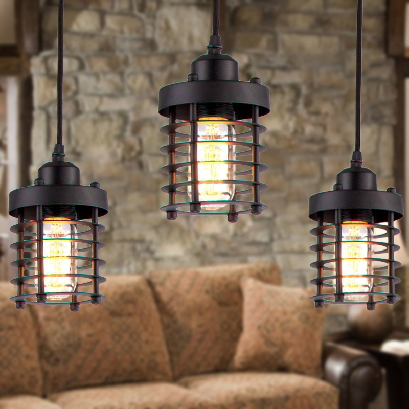 Bar Coffee Break Area Black Pendant Lamp Gothic Light Modern Lights Lamparas Other Bedrooms In From