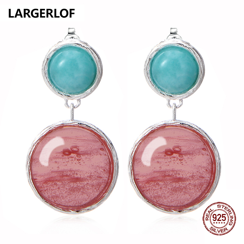 LARGERLOF Real 925 Sterling Silver Earrings For Women Fashion Jewelry Silver 925 Earrings BR50004 2017 real 925 sterling silver