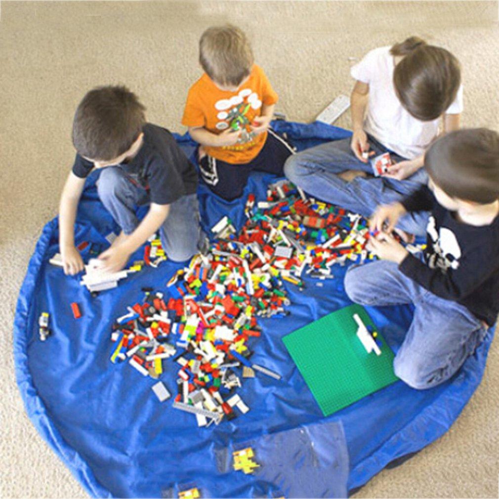 150cmWaterproof Nylon Organizer Kids Game Mats Buggy Bag Play Mat Rug Toy Storage Holder Box Easy to Carry Baby Crawling Carpet