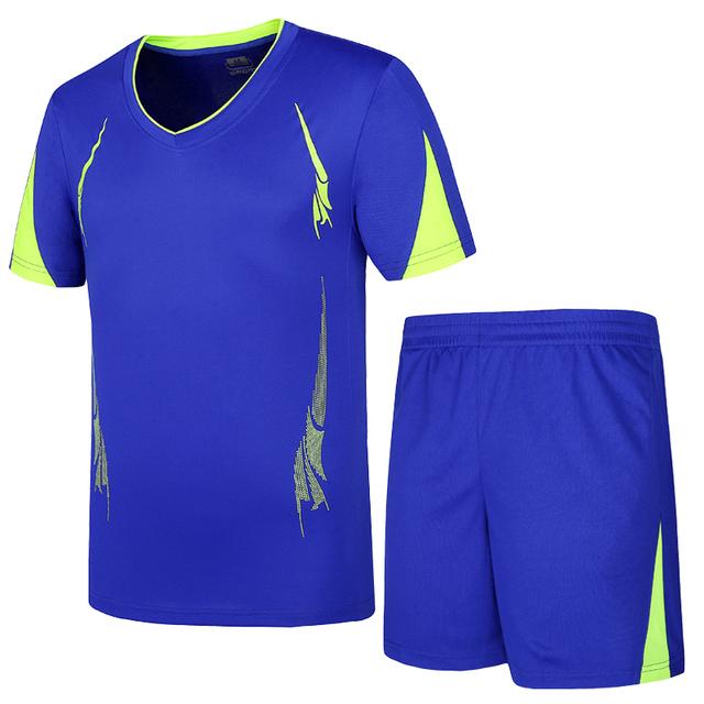 Soccer Sets Boys Polyester Sport Suit Short Sleeve Child Football Set Breathable Big Size Game Training Children Sportswear