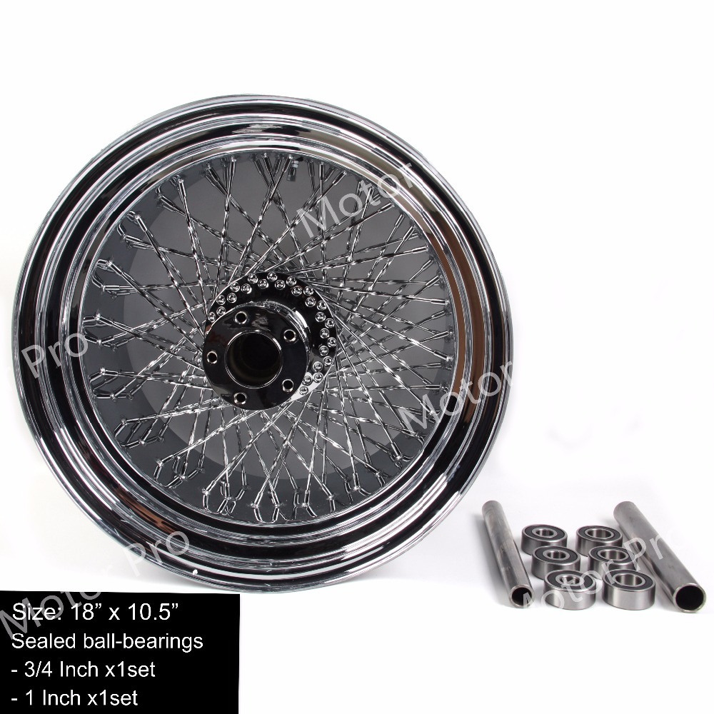 US $430 31 19% OFF|1 PCS FOR Harley Davidson FLSTC FAT BOY Stainless Steel  Motorcycle Rear Wheel Rim Chrome Custom conversion-in Rims from Automobiles