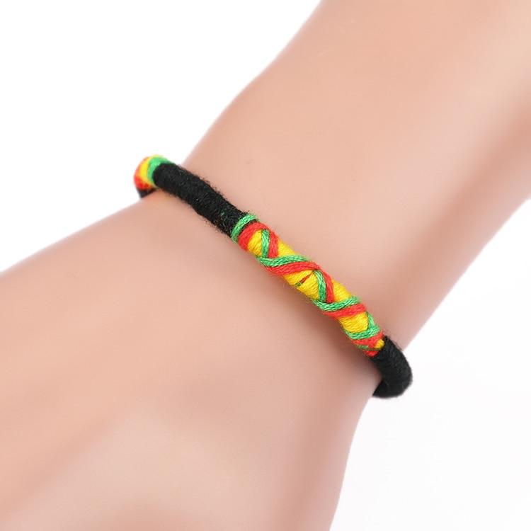 Women brazilian bracelet multicolor braided boho chain bohemian tassel strain handmade sport chain friendship bracelets unisex 3