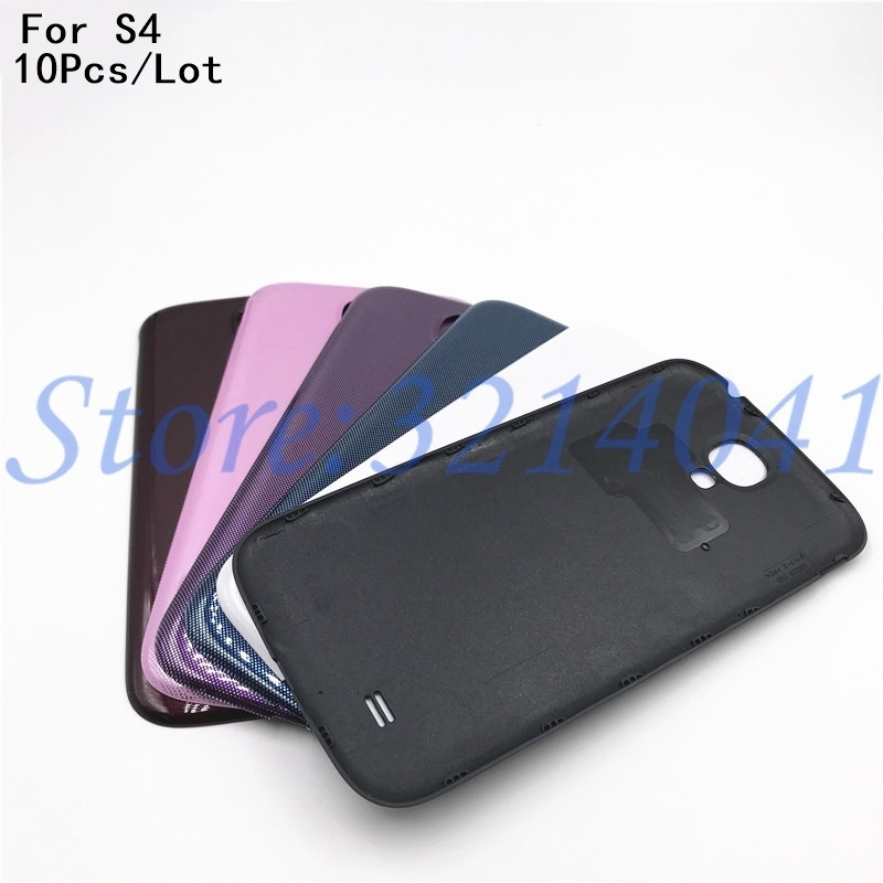 10pcs/lot For Samsung Galaxy S4 I9500 I9505 Back Housing Cover Case For Samsung S4 I337 Battery Cover Replacement