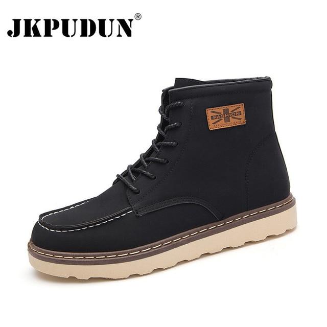Hommes martin bottes d'hiver de haute qualité cuir cheville bottes automne et hiver hommes chaussure eV8oY57