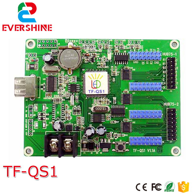 indoor and outdoor RGB LED moving Sign led controller TF-QS1 for P3,P4, P5, P6, P7.62, P8, P10 good group diy kit led display include p8 smd3in1 30pcs led modules 1 pcs rgb led controller 4 pcs led power supply
