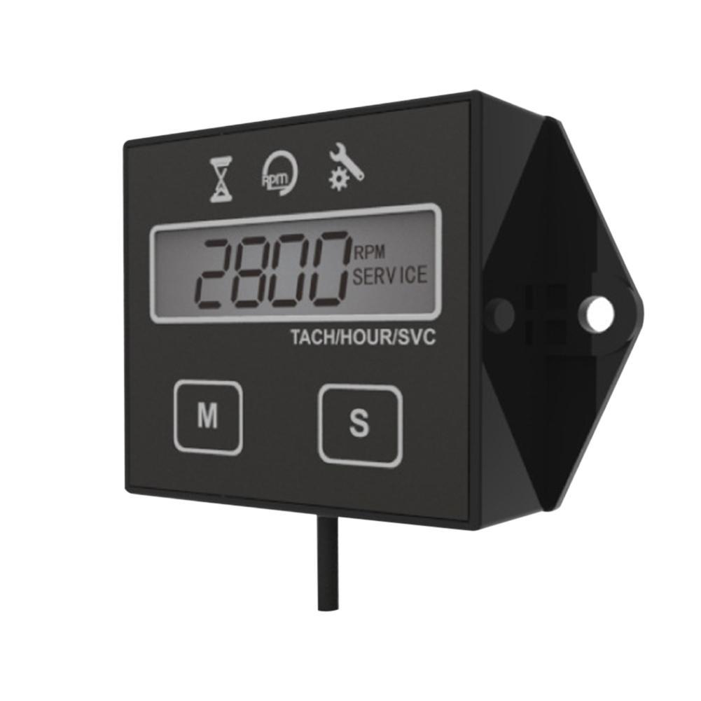 Digital Engine Tach Tachometer HourMeter Inductive for motorboat Motor lawnmower