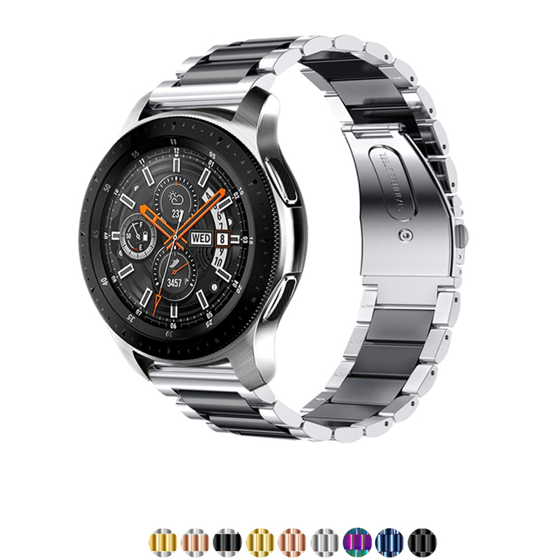 22mm 20mm stainless steel strap for samsung galaxy active watch 46mm S3 S2 Frontier Classic huami