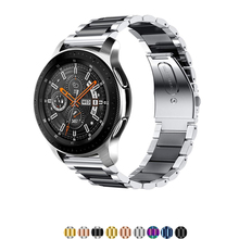 22 мм/20 мм ремешок из нержавеющей стали для samsung galaxy active watch 46 мм S3/S2 Frontier/Classic huami amazfit huawei watch gt ремень