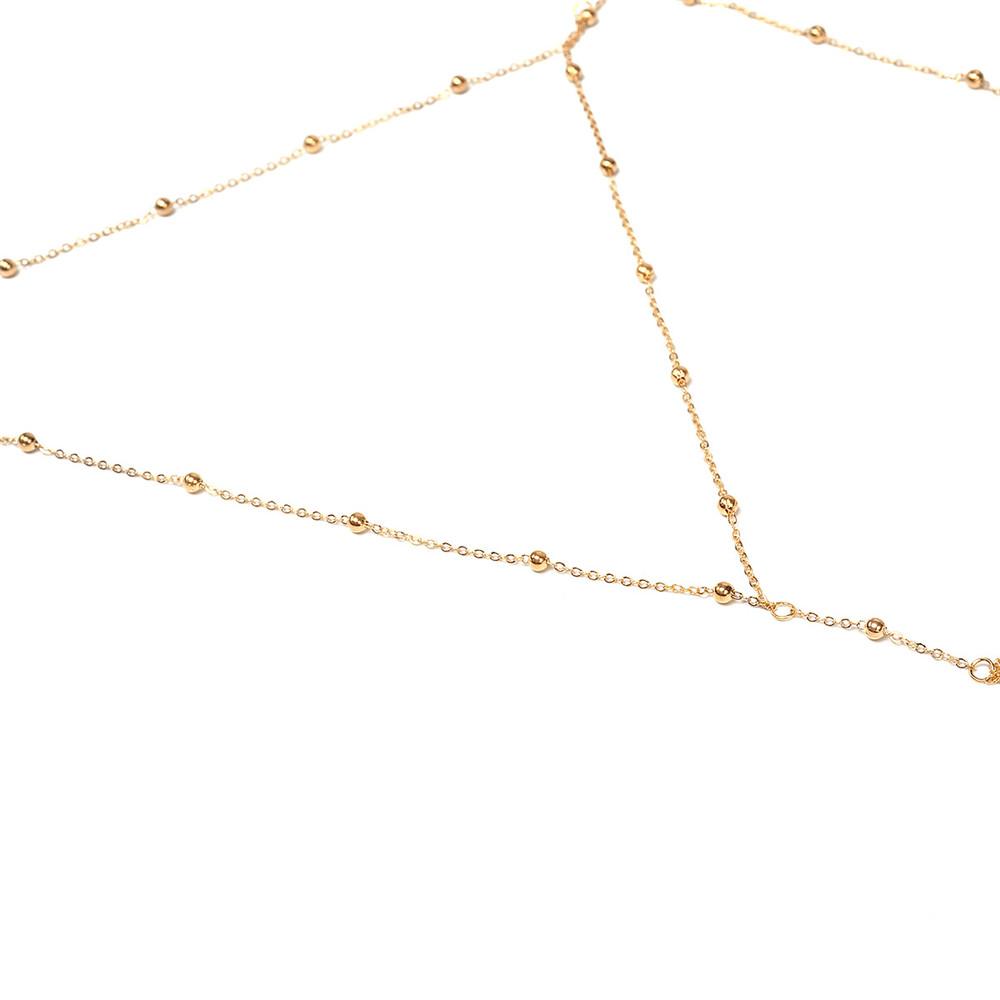 GIVVLLRY Rhinestones Tassel Body Chain Sexy Beach Gold Silver Color Wedding Accessories Bra Cross Body Chain Jewellery for Women 8