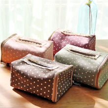 Grocery Cotton Linen Multifunctional Storage Bag Creative Dot Tissue Pumping Storage Boxes Folding Paper Towel Box