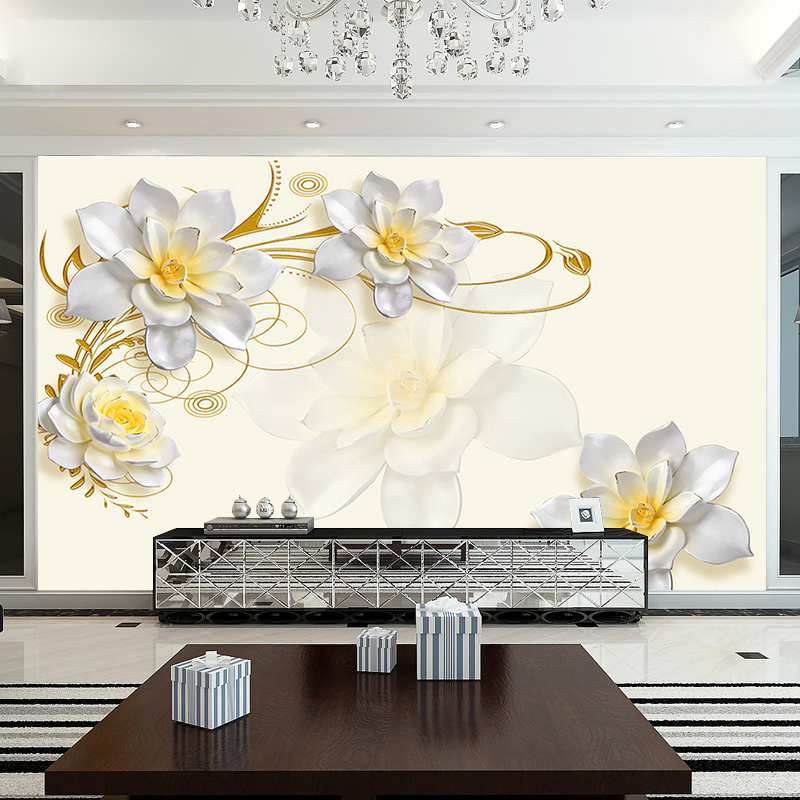 large 5d wall murals wall paper for living room 3d magnolia flowerlarge 5d wall murals wall paper for living room 3d magnolia flower mural wallpaper for tv background custom 3d wall papel mural