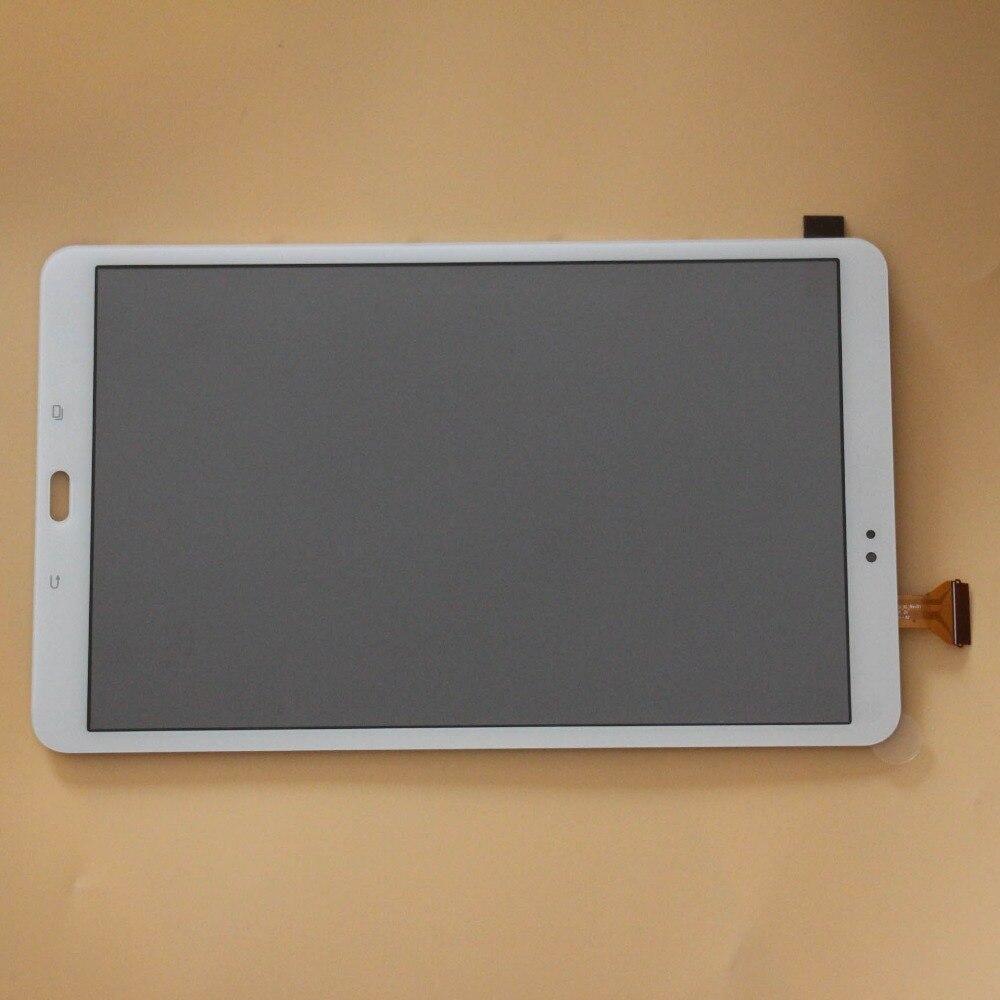 Verre de numériseur d'écran tactile + pièces de rechange d'assemblage d'affichage à cristaux liquides pour Samsung Galaxy Tab A T580 T585 SM-T580 SM-T585 blanc