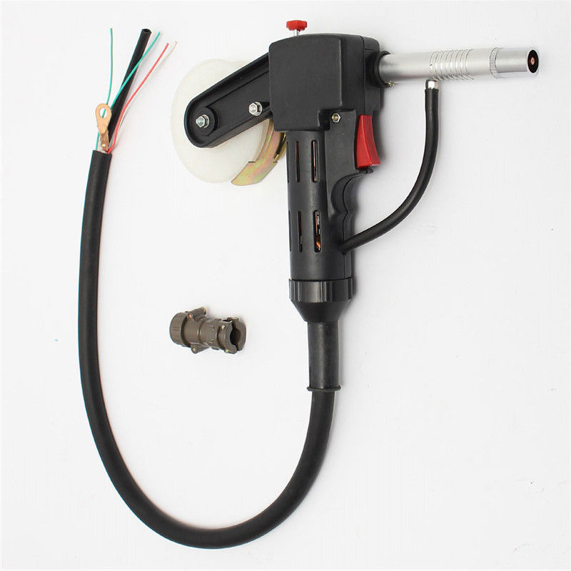 Dc 24v Nbc-200a Mig Spool Tool Pull Feeder Aluminum Welding Torch W/ 1m Cable