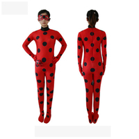 CosDaddy Miraculous Ladybug Girls Cosplay Costumes Halloween Christmas Costumes For Girls Wig Kids Marinette Dress