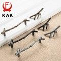 Manija de muebles de rama de árbol de moda KAK 96mm 128mm negro plata bronce gabinete de cocina tiradores de cajón tiradores de puerta hardware