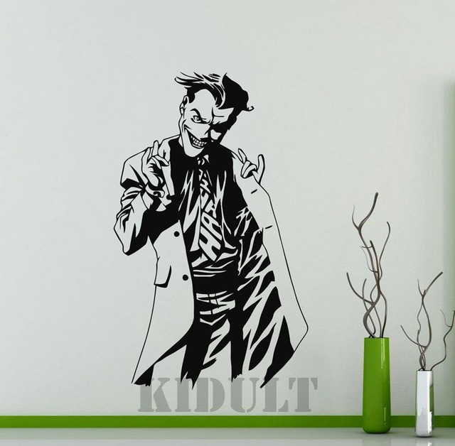 Clown Wall Stickers Jack DC Marvel Comics Superhero Vinyl Wall - Superhero vinyl wall decals