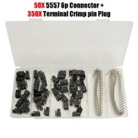 50pcs 6Pin ATX EPS PCI E PCI E Female Connector 5557 300pcs Terminal Crimp Pin Plug