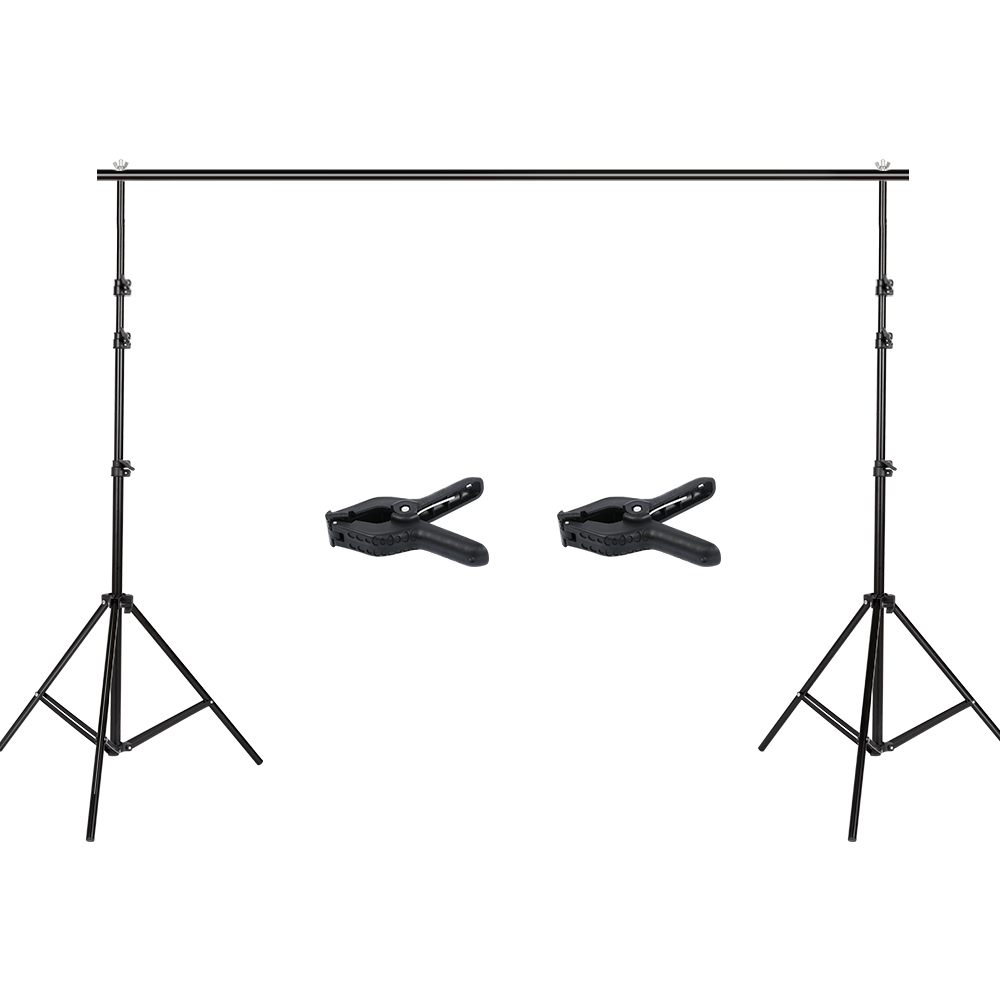 Photography 2.6x3m Photo Studio Backdrop Background Support Stand Kit(China)